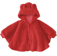 2T-3T Medium Red baby robe capes overcoats girls coats cloak amice hoody mantle tippets shawl stole kid surcoat YX418