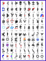 Wholesale 2015 lastest fashion Hot sell golden phoenix temporary AIRBRUSH TATTOO STENCIL BOOK pictures