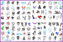 Wholesale 2011 fashion cute new arrival golden phoenix temporary AIRBRUSH TATTOO STENCIL BOOK pictures