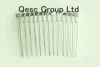Wholesale Silver Teeth cm metal wire comb for sinamay fascinator hair accessories