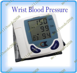 Wholesale 20pcs B72 Digital Wrist Blood Pressure Monitor amp Heart Beat Meter Control From Hypertension