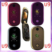 Wholesale EMS Unlocked phone U9 Quad Band GSM MP Camera Bluetooth FM Radio MP3 mobile phone