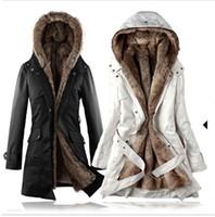 Women Middle_Length Faux fur Womens Warm Fashion Faux Fur Linning Parkas Long Sleeve Winter Coat Windbreaker YN005