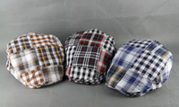 Wholesale Newsboy cap Duckbill Gatsby flat retro beret hat plaid caps mix of