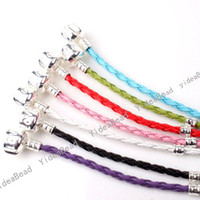 Wholesale Mixed Leather Bracelets cm Silver Tone LOVE CLASP BRACELETS Fit Jewelry Findings DIY