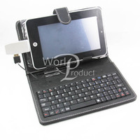 Wholesale 7inch Keyboard Leather Case Cover Keyboard Flip Stand USB Tablet PC ePad Best selling