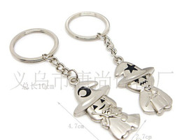 free shipping Hat magician couple keychain key chain, keyring accessories