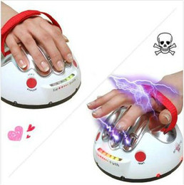 Wholesale funny toy ultimate shocking Liar Electric Shock lie detector Gift test true or lie
