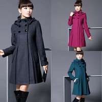 Wholesale Hot Sale Women s Fashion Double breasted Wool Coat Ladies Cashmere Winter Noble Long Coat