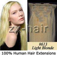 "5sets remy human hair 20"" 7pcs set Clip- in hair Human H..."