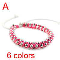 Wholesale weaving bracelet iron with ccb beads jewelry bracelets colors each color handmade BR