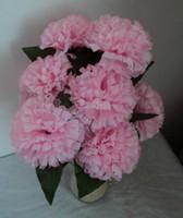 Wholesale HOT Silk Artificial Carnation Five Flowers Bouquet cm Wedding Thanksgiving Party Colours