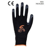 Wholesale New arrival dozen black nylon black nitrile foam coated working glove CE certified EMS