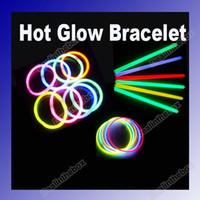 Wholesale 200 quot Multi Color Hot Glow Stick Bracelet Necklaces Neon Party Bright Colorful Fun