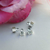 Wholesale DIY jewelry accessories alloy silver jewelry fitting Crimp jewelry finding ending MP4024 x3 mm
