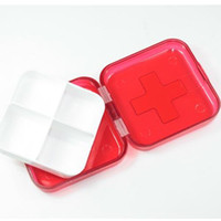 home or travel use PS,PP(Durable Plastic) Pill Cases Splitters Pill Box Day Tray Travel Home Medicine Drug Tablet Pill Organizer Container Box Pillbox 4 Cases