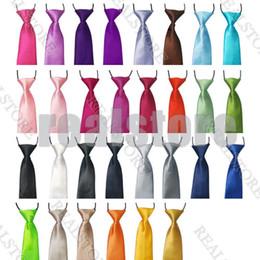 Wholesale Hot Sales Colorful School Baby Kids Children s Ties Solid Wedding Color Elastic Tie Necktie fx21