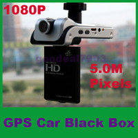 Wholesale 5 M Pixels Full HD P GPS Dashboard Dash Camera Car DVR Cam Black Box