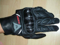 Wholesale hot DAINESE Real leather gloves MotorCycle motorbike racing gloves leather gloves Black