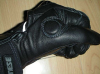 Wholesale new DAINESE Real leather gloves MotorCycle motorbike racing gloves leather gloves Black