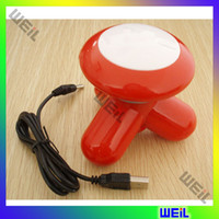 Wholesale Colourful Mini Health Massager USB cable with three mini tripod vibration triangle WEIL