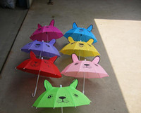 Wholesale 15Pcs lovely animals ear umbrella kids umbrella sun umbrella Anti UV Umbrellas
