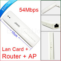 Wholesale 54Mbps WiFi in AP Router Network Bridge wireless LAN card Adapter USB D2012B