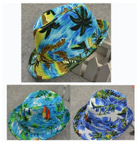 Wholesale kids fedora hat baby autumn summer top hat kids sun cap topee canvas jazz cap children beach hat