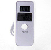 Wholesale hot Detector Dual LCD Display Digital Alcohol Tester and Timer Analyzer Breathalyzer