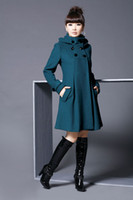 Wholesale Autumn Winter Fashion Women s double breasted wool cashmere Coat self cultivation Long section Coats