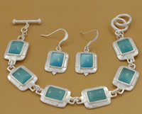 Wholesale Christmas European Style Charm Earrings and Bracelet Sterling Silver Fashion Jewelry Sets ZY0037