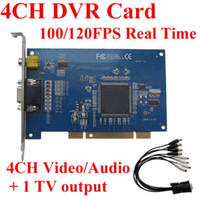 Wholesale CCTV H CH DVR Card Real time FPS Audio video capture Security Card