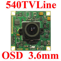 Wholesale CCTV SONY CCD TVL Security Camera mm wide lens OSD PCB board Camera TVL