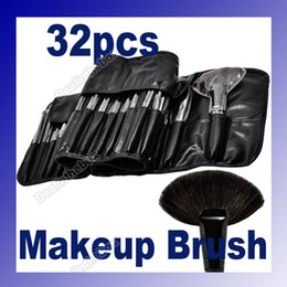 Wholesale 32pcs Pro Cosmetic Tool Makeup Brush Set Kit With Roll Up Black Bag Case