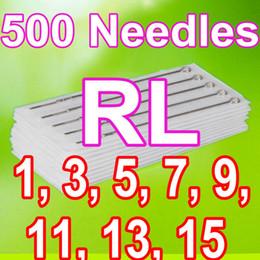 Wholesale 500PCS ROUND LINER TATTOO NEEDLES RL RL RL RL RL RL RL RL MIXED SIZES