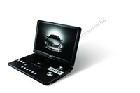 Wholesale 5pcs INCH PORTABLE DVD Player with DVD TV DVB T Optional GAME USB MPEG4 CARD READER VGA
