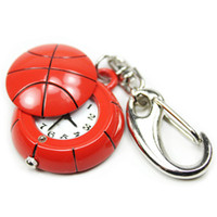 Keychain Watch  Watch Men Pocket Basketball Key Ring Keychain Quartz Clock Watch Free Shipping 50pcs lot S00032