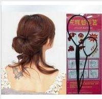 Black big hair pins - Fashion hair accessory set Portable Hair Pattern Pull Pin Bun Maker Clip Big amp Small