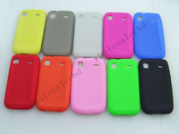 Wholesale 200pcs Cheap Flat Silicone Rubber Cases Back Cover for Samsung i9000 G959 Galaxy S