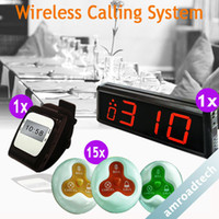 Wholesale 1 Set Wireless Calling Waiter Server Paging Service System for Restaurant Pub Bar AT WC1115