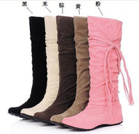 Wholesale free shpping lady s boots Half Snow Boots tTassel bootie Increased in boots NUBUCK