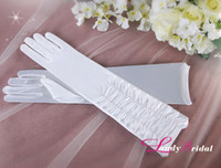 Wholesale White Gloves Elbow Fold Wedding Apparel Accessories Bridal Accessories