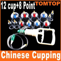 Wholesale 12 Chinese BRAND PULL OUT VACUUM APPARATUS CUP cupping therapy apparatus Body Massage box H726