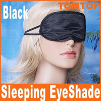Wholesale Eye Mask Shade Nap Cover Blindfold Sleeping Travel Rest H1996 Black