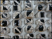 Wholesale Best Selling Charm Men s Rings Mix Lacquered Rhinestone Silver Tone Ring Fashion Jewelry A