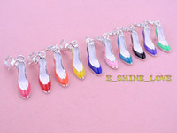 Wholesale Free Express PcsXS P Enamel High heeled Shoes Clip On Charms Fit Link Chain Bracelet tmsmix2