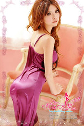 Wholesale New Noble Purple Women Sexy Lingerie Dress Fashion Lace Pajamas Sleepwear