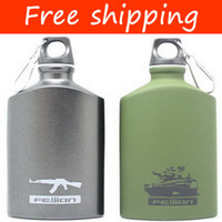 Wholesale Oval aluminum water kettle military travel kettle sport water bottle metal travel bottle CN08A