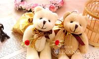 Wedding   50pcs lot Bear rose Wedding candy box,party favors boxes Sweet bag Birthday gift box favor 9*11cm