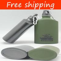 Wholesale Aluminum sport water bottle metal travel kettle military travel bottle drinking bottle CN08B